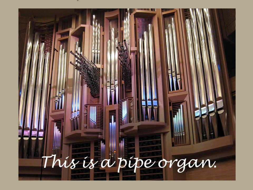 This is a pipe organ.