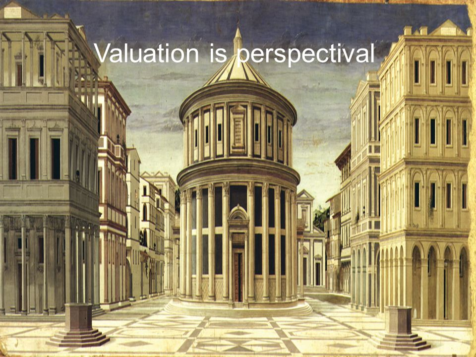 Valuation is perspectival