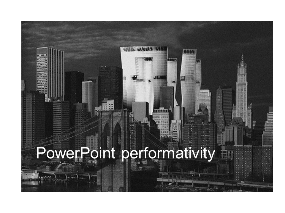 PowerPoint performativity