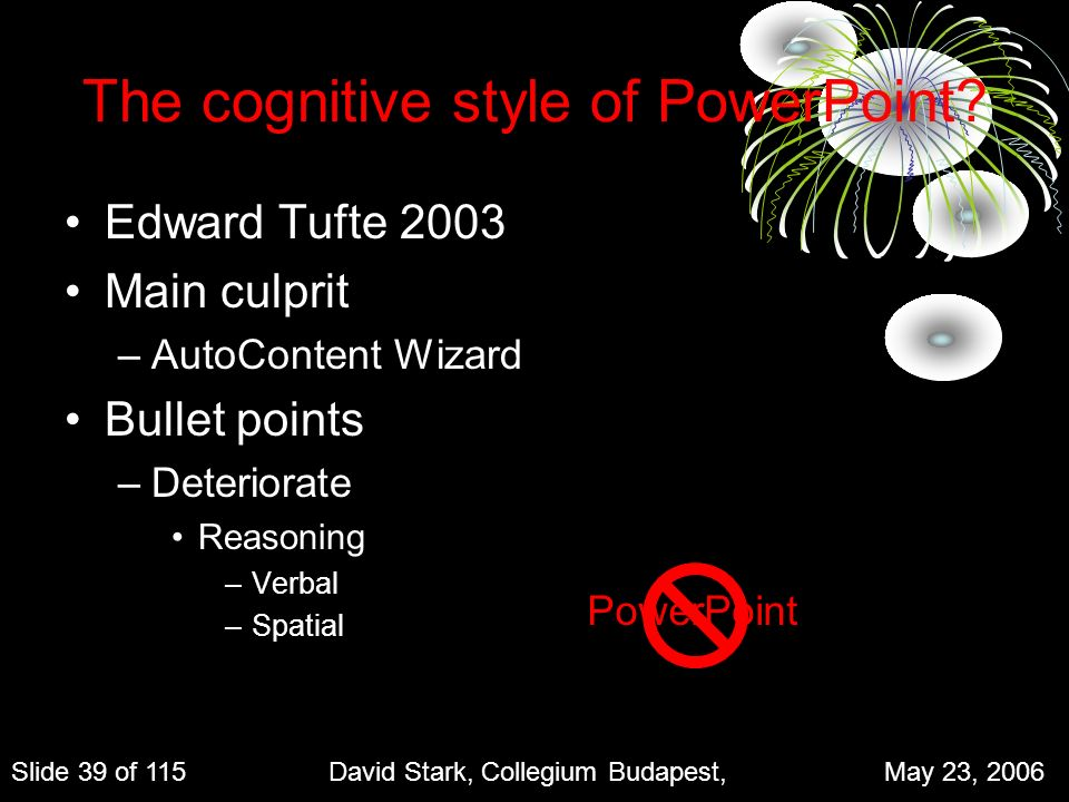 The cognitive style of PowerPoint.