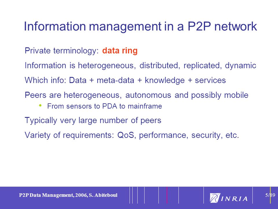 5 P2P Data Management, 2006, S.