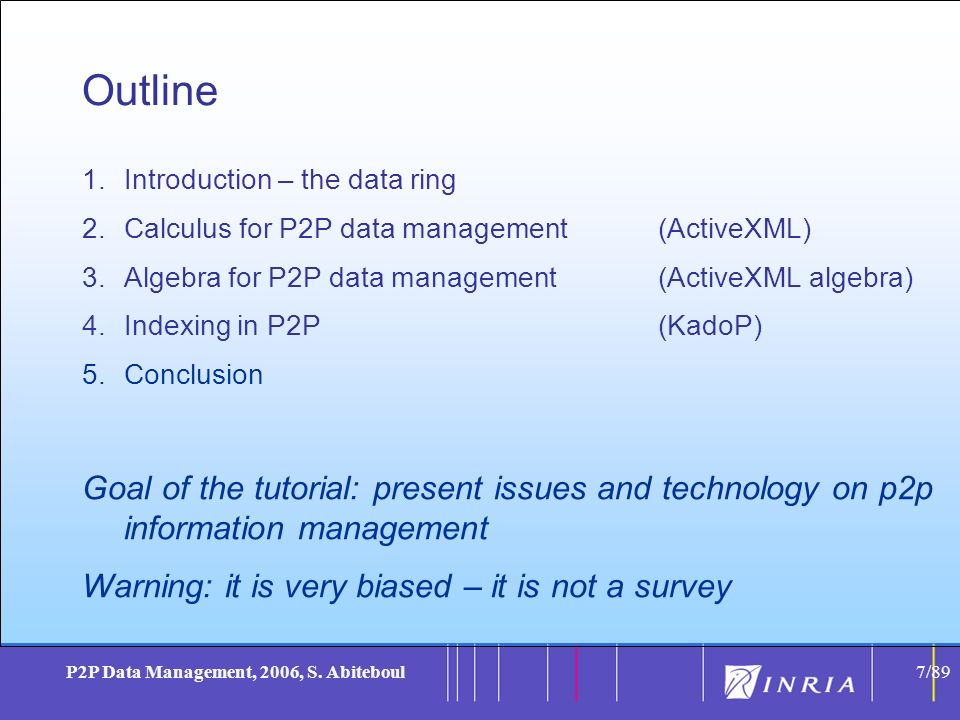 7 P2P Data Management, 2006, S.