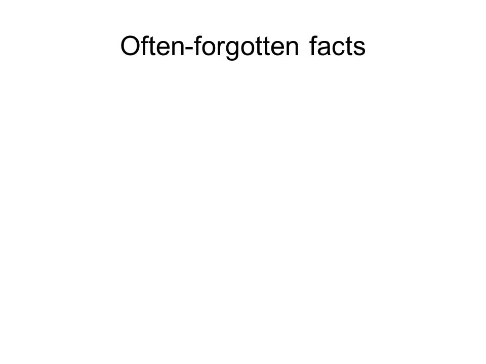 Often-forgotten facts