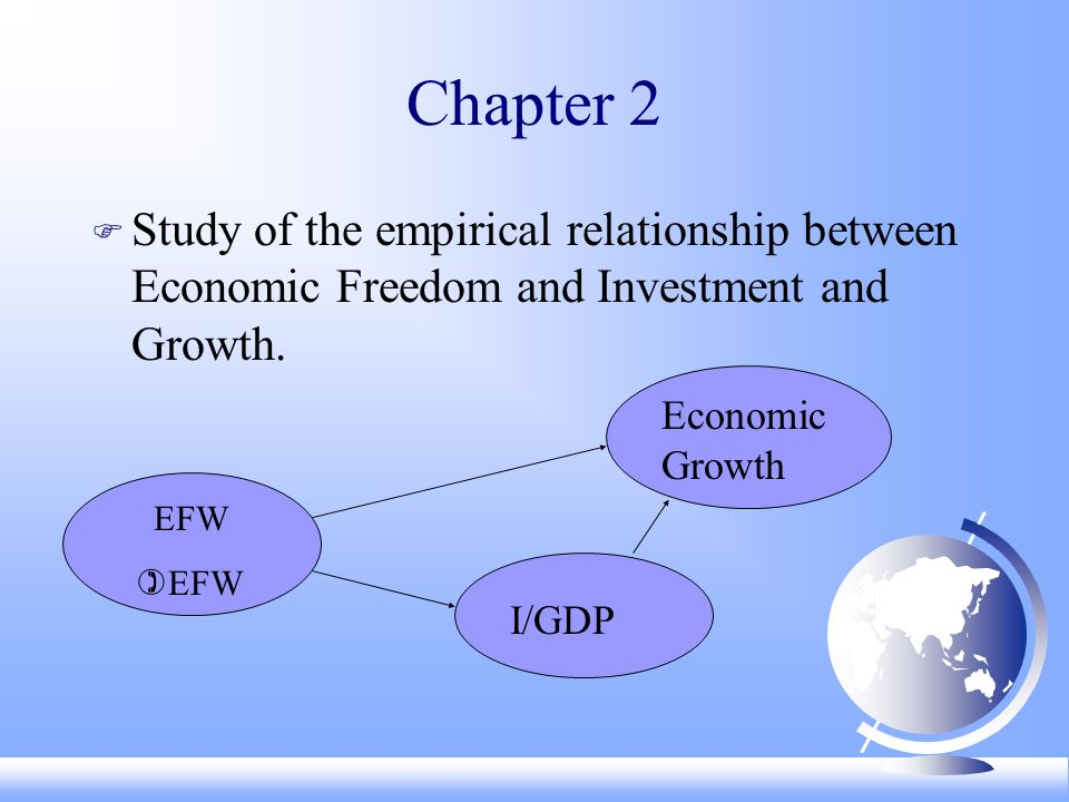 Chapter 2 F Study of the empirical relationship between Economic Freedom and Investment and Growth.