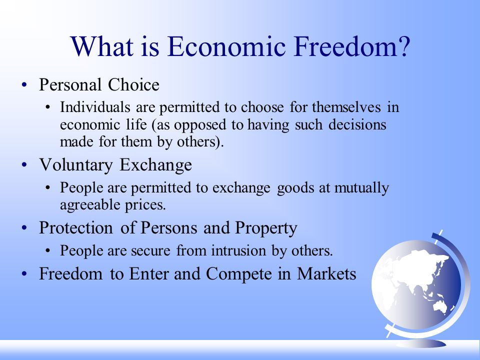 What is Economic Freedom.
