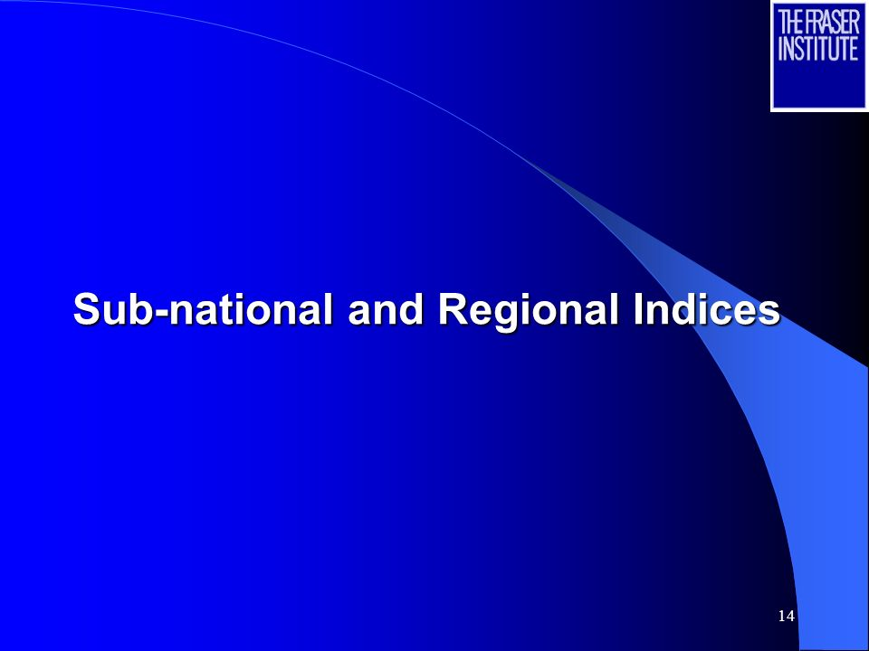 14 Sub-national and Regional Indices