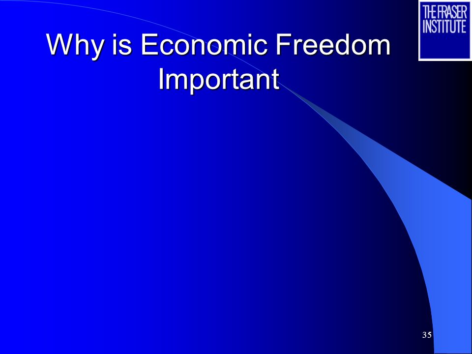 35 Why is Economic Freedom Important