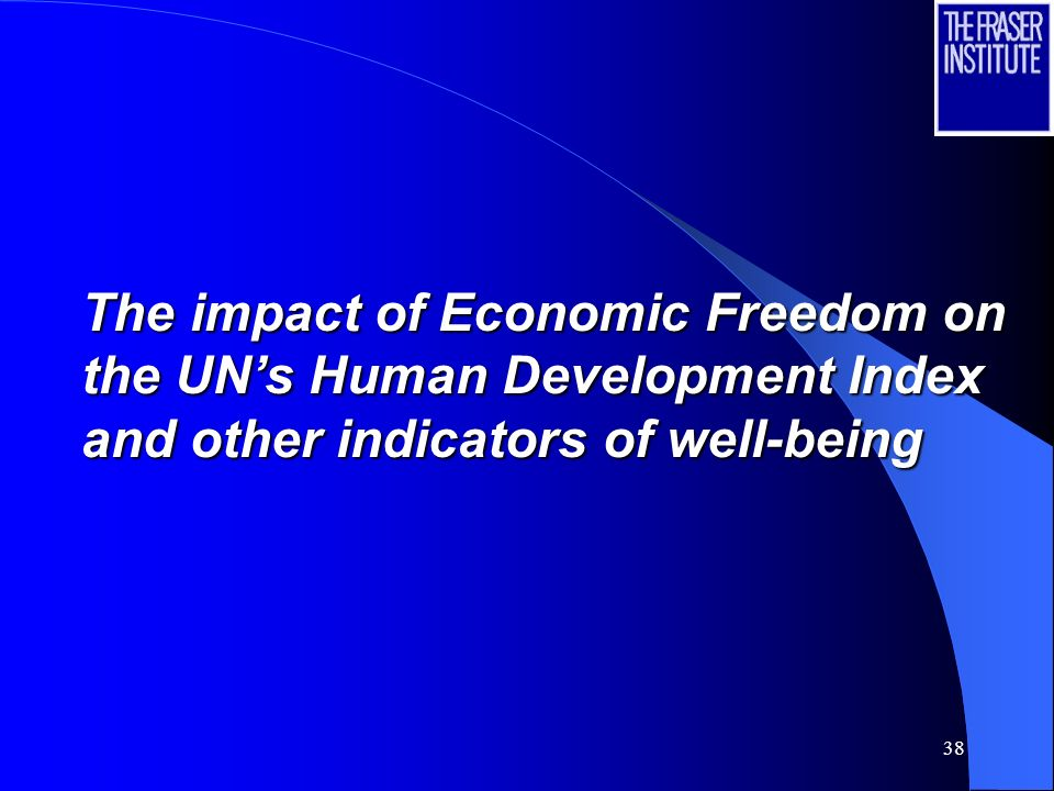 38 The impact of Economic Freedom on the UNs Human Development Index and other indicators of well-being