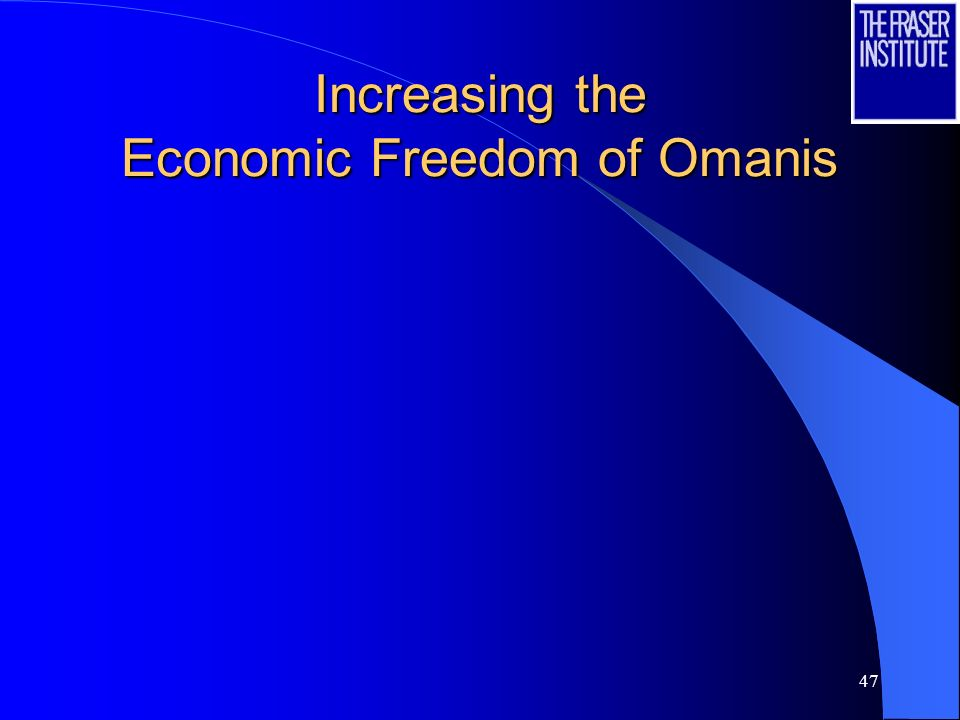 47 Increasing the Economic Freedom of Omanis