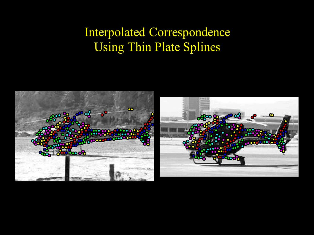 Interpolated Correspondence Using Thin Plate Splines