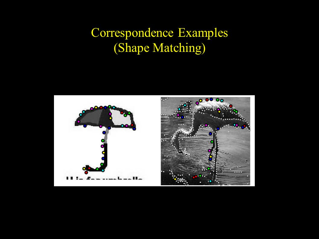 Correspondence Examples (Shape Matching)