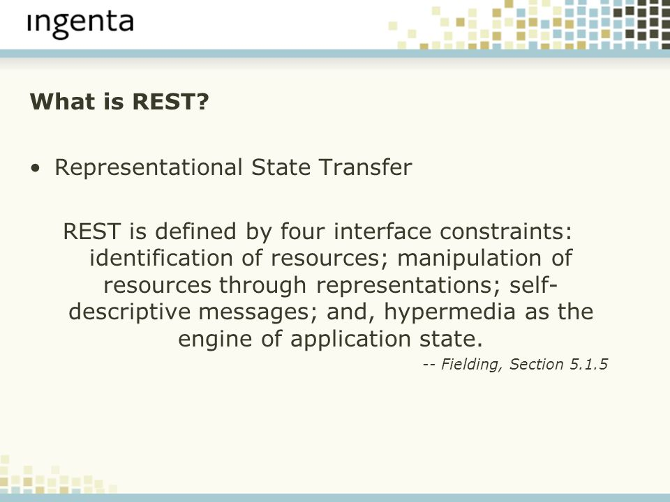 What is REST.