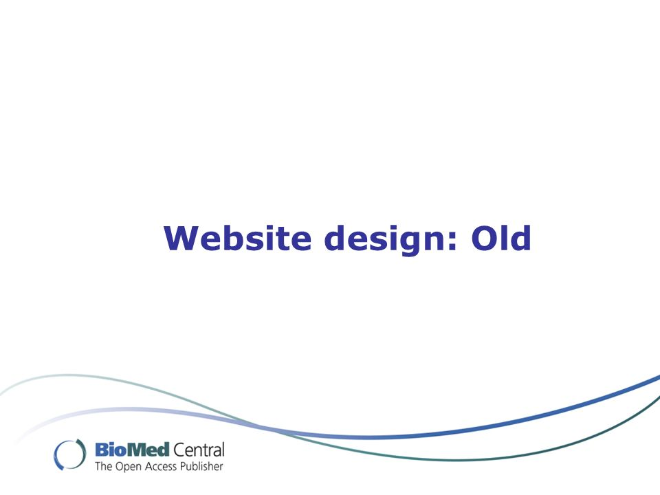 Website design: Old