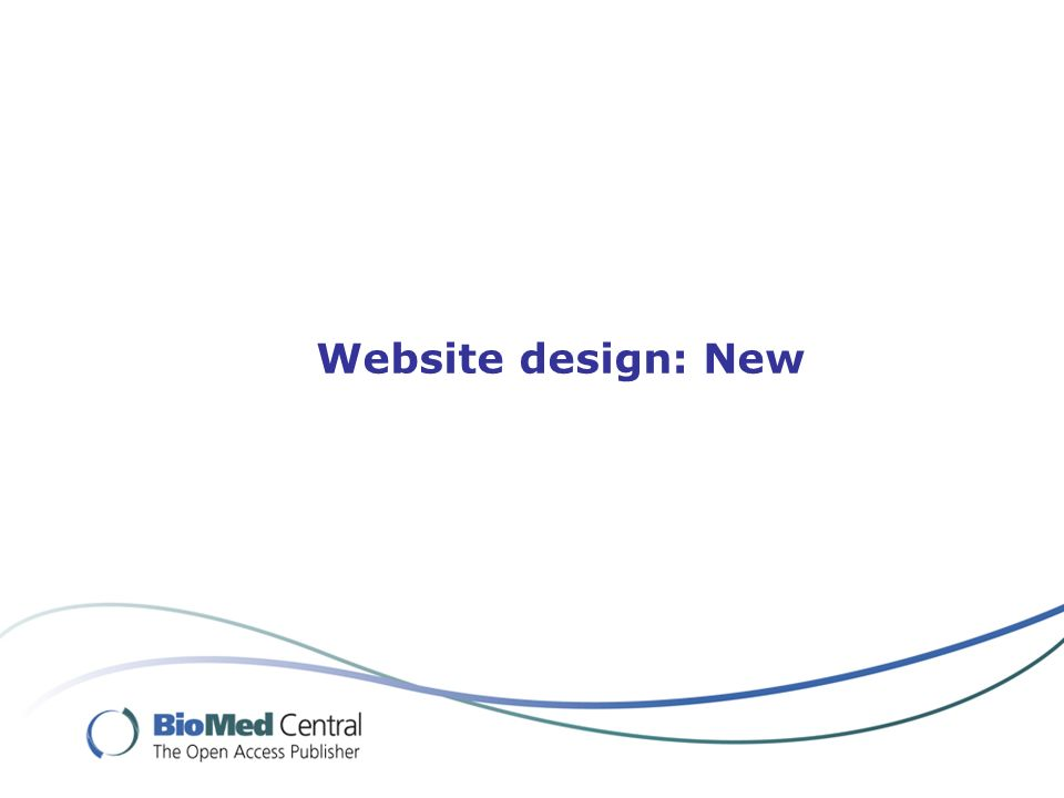 Website design: New