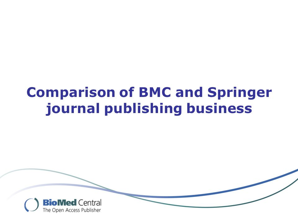 Comparison of BMC and Springer journal publishing business
