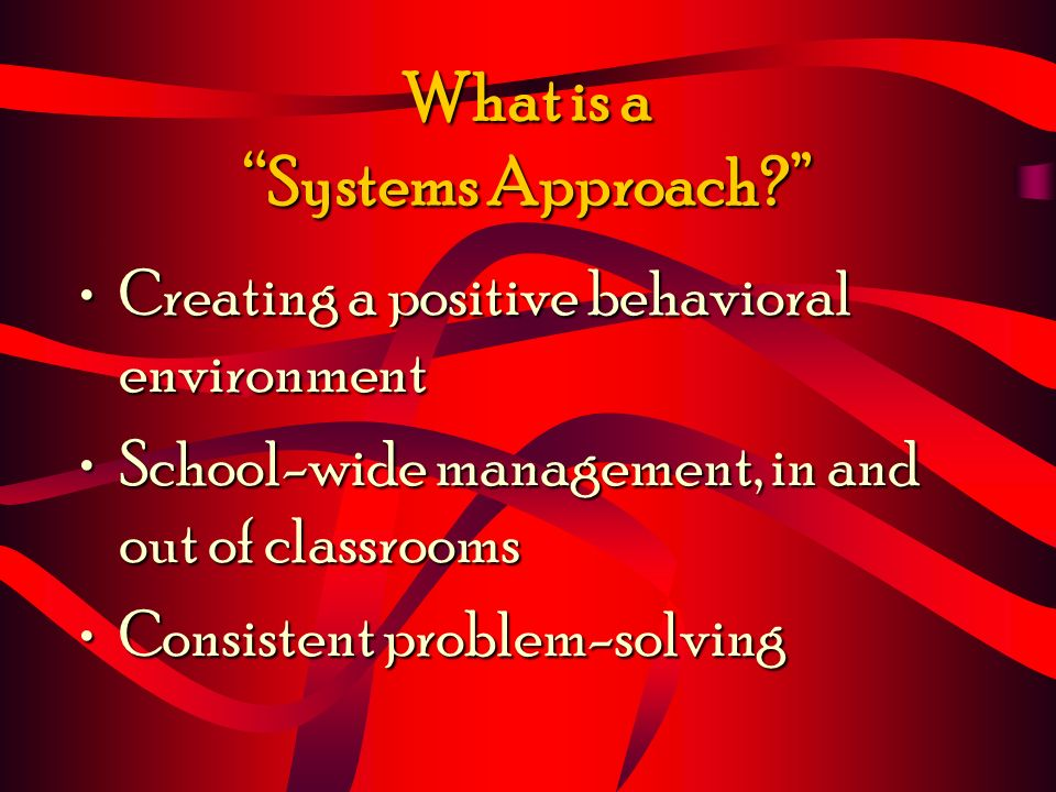 What is a Systems Approach.