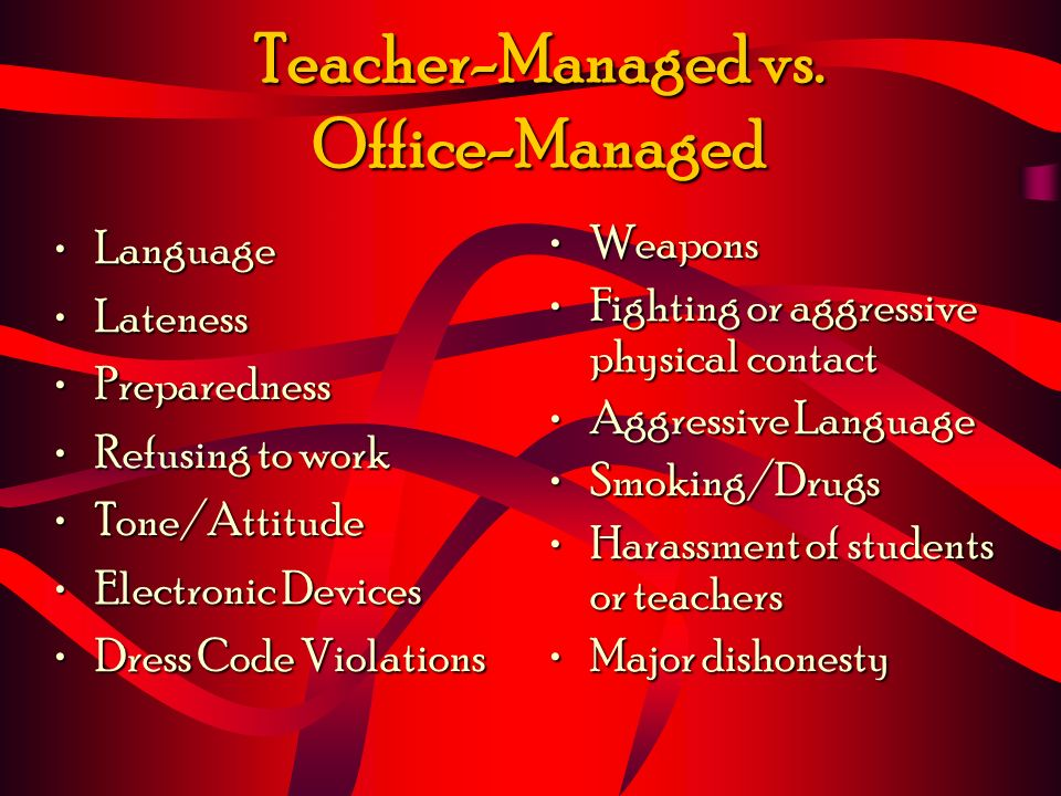 Teacher-Managed vs.
