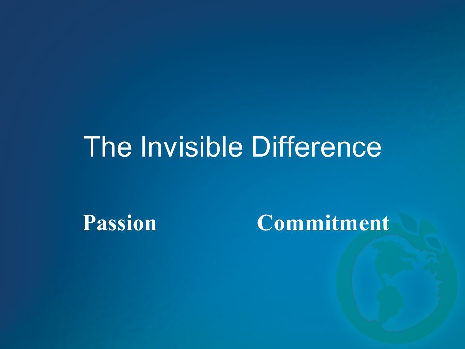 The Invisible Difference PassionCommitment