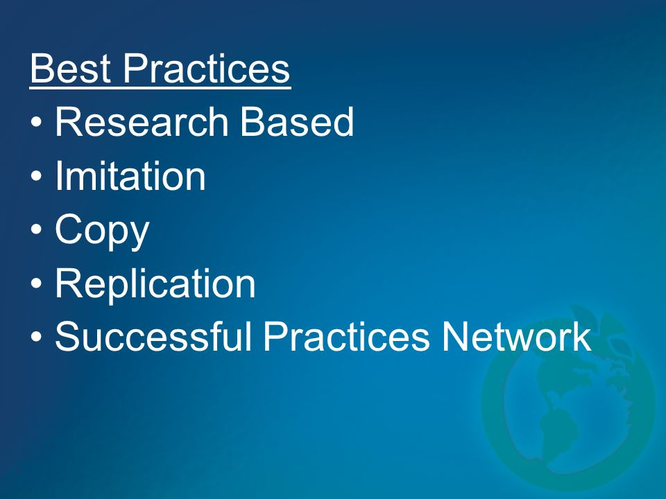 Best Practices Research Based Imitation Copy Replication Successful Practices Network