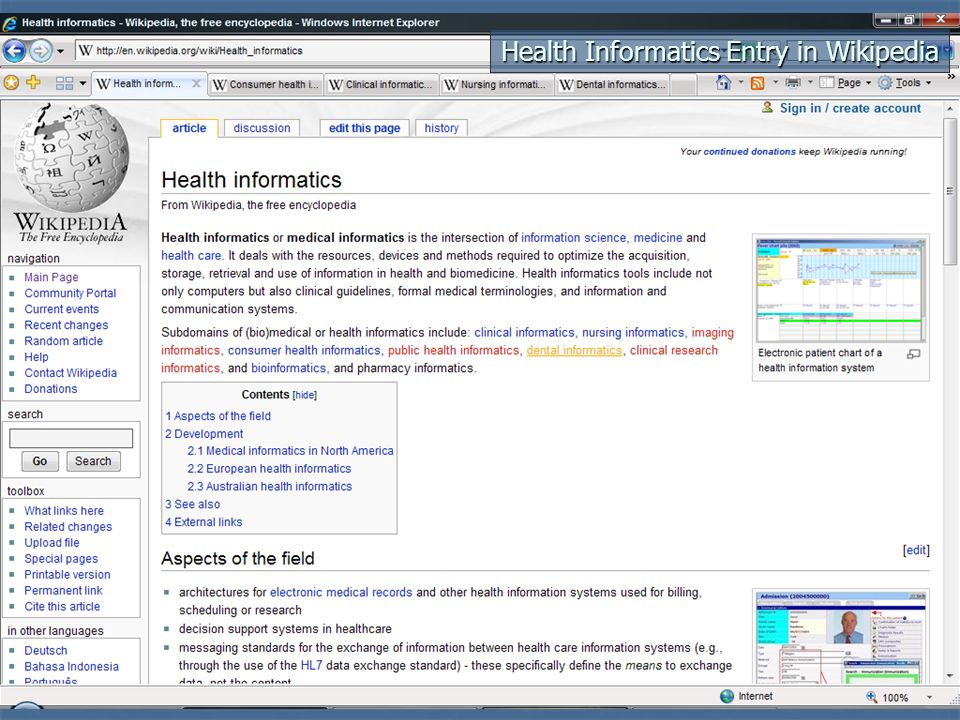 Health/Medical Wiki Examples