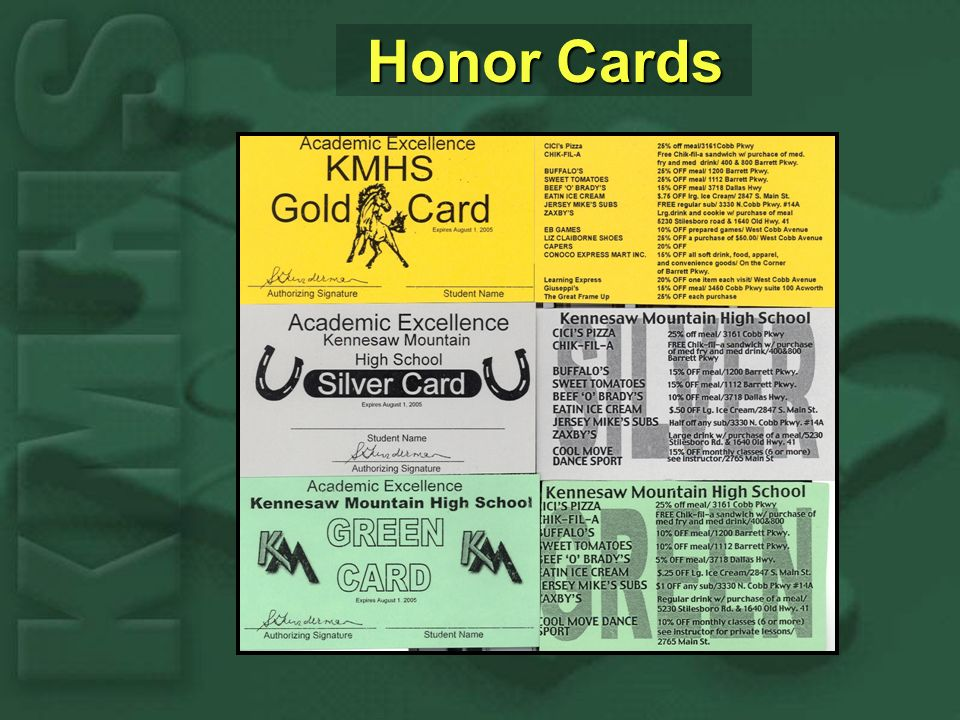 Honor Cards Honor Cards
