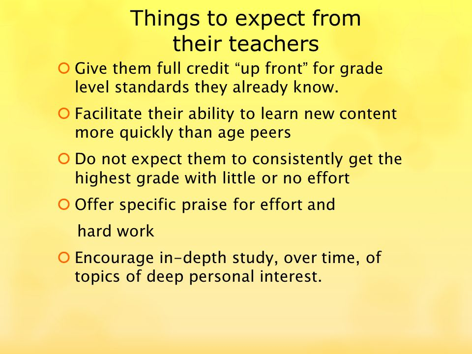 Give them full credit up front for grade level standards they already know.