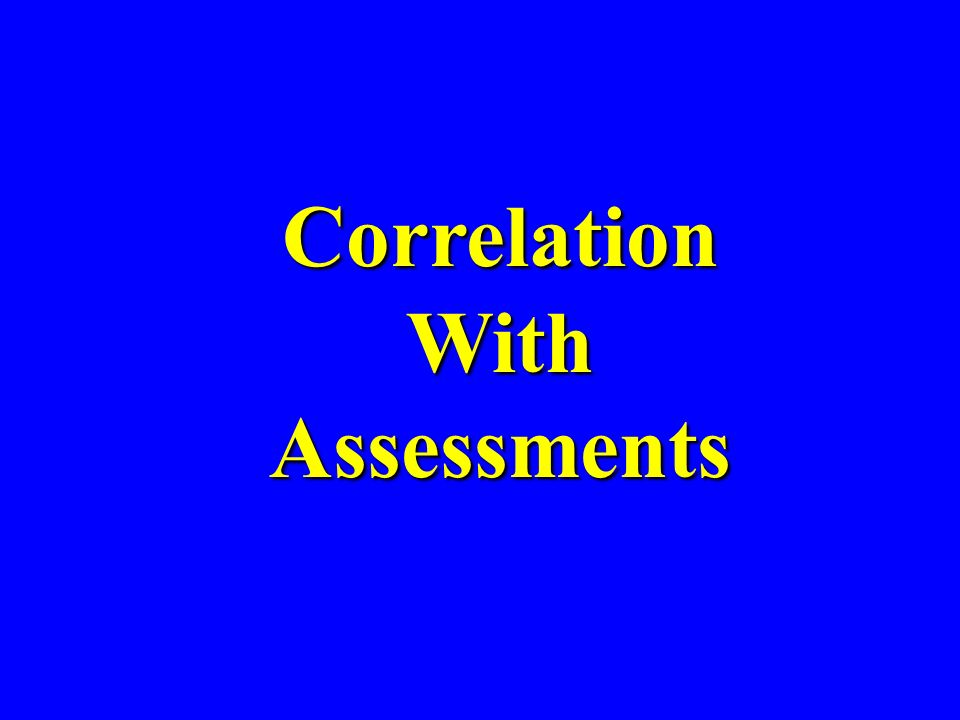 CorrelationWithAssessments