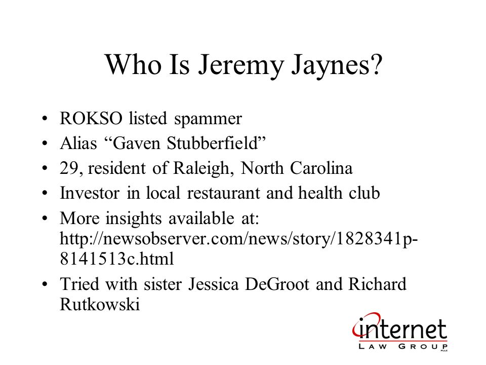 Who Is Jeremy Jaynes.