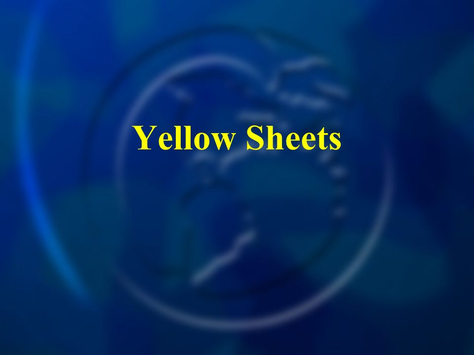Yellow Sheets