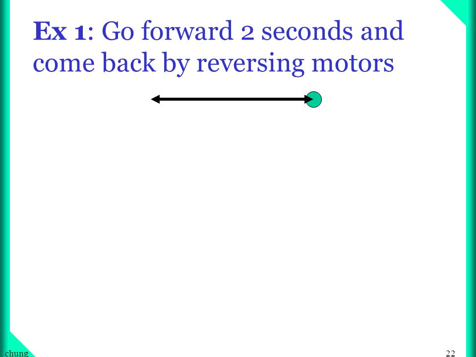 22chung Ex 1: Go forward 2 seconds and come back by reversing motors