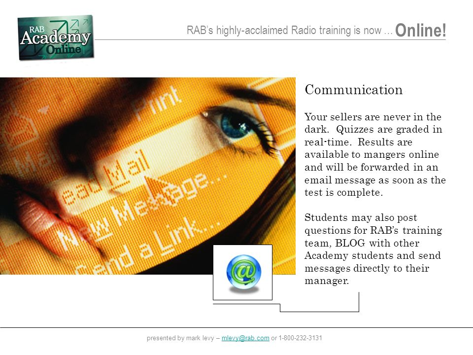 RABs highly-acclaimed Radio training is now … Online.