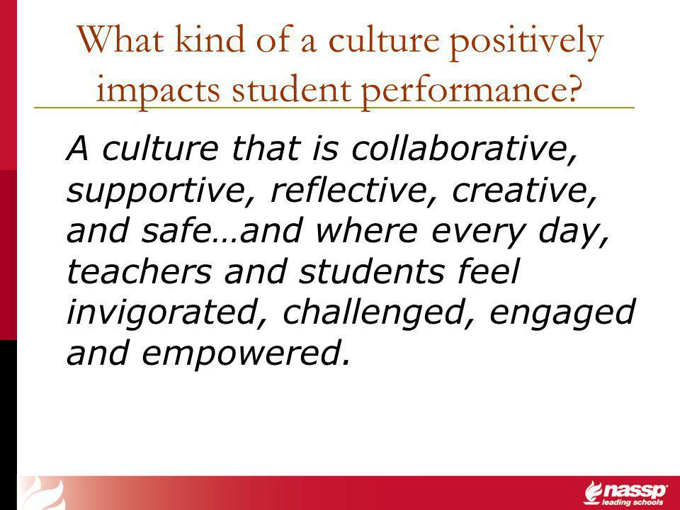 What kind of a culture positively impacts student performance.