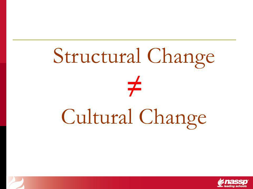 Structural Change Cultural Change