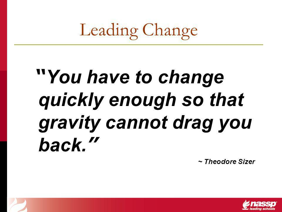 You have to change quickly enough so that gravity cannot drag you back.