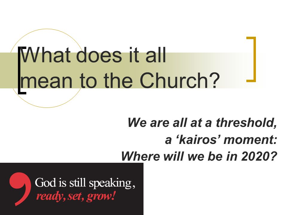 What does it all mean to the Church.