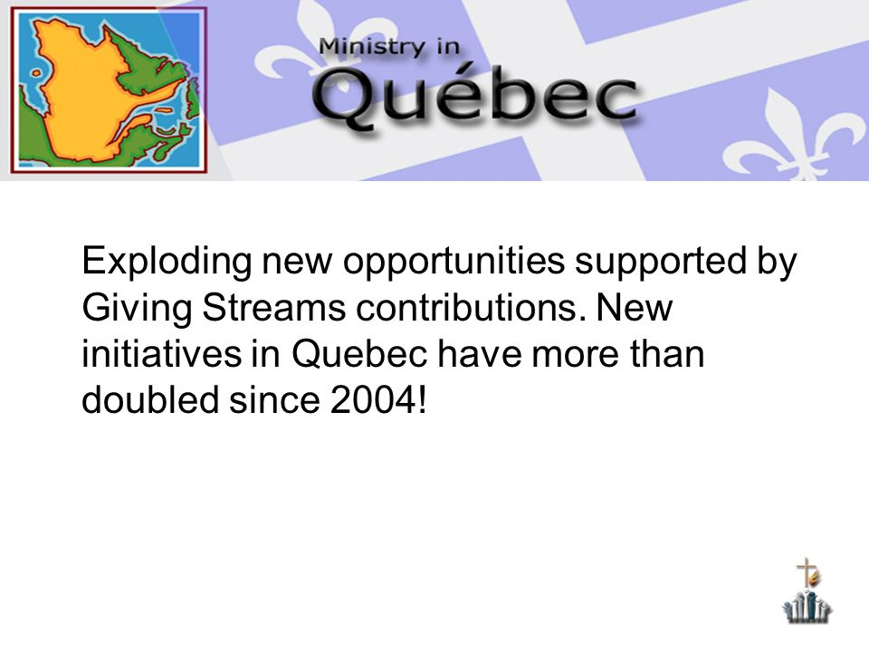 Exploding new opportunities supported by Giving Streams contributions.