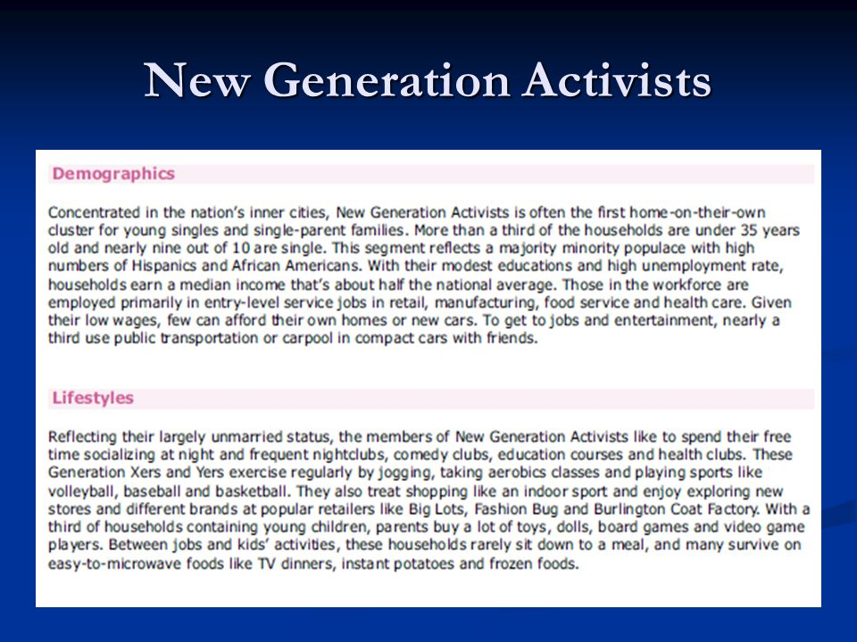 New Generation Activists