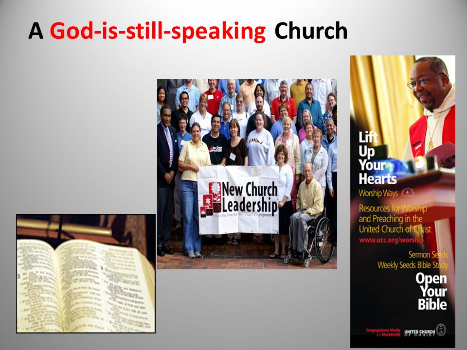 A God-is-still-speaking Church