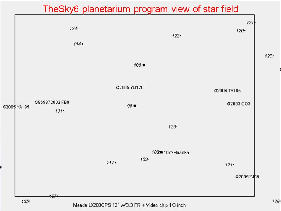TheSky6 planetarium program view of star field
