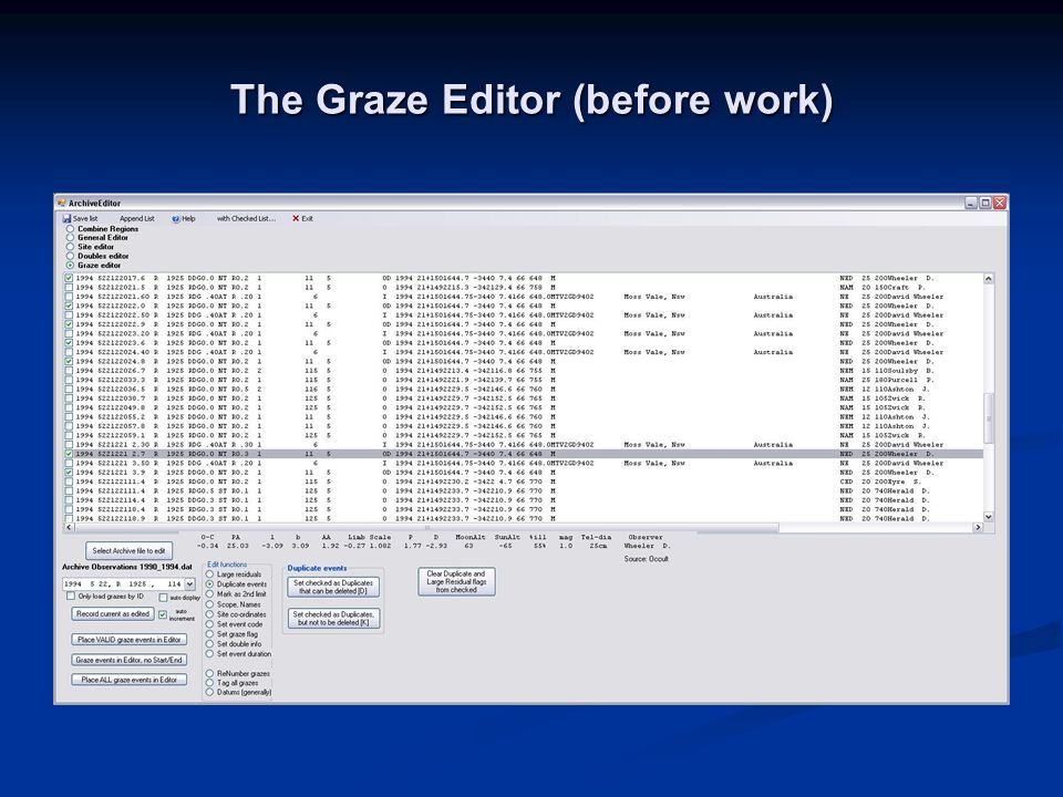 The Graze Editor (before work)