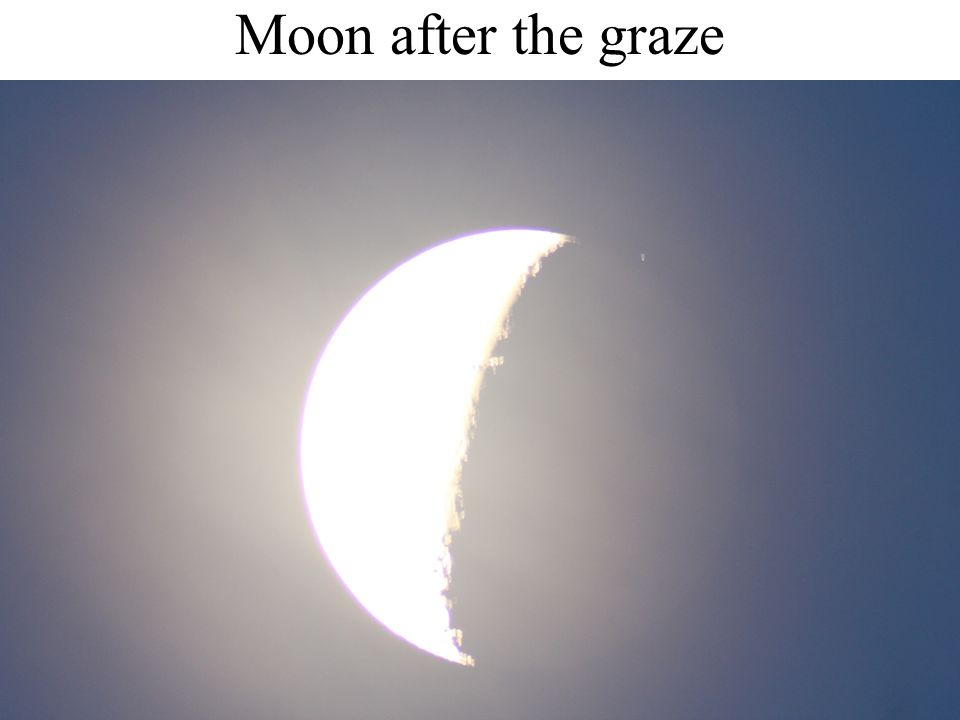 Moon after the graze