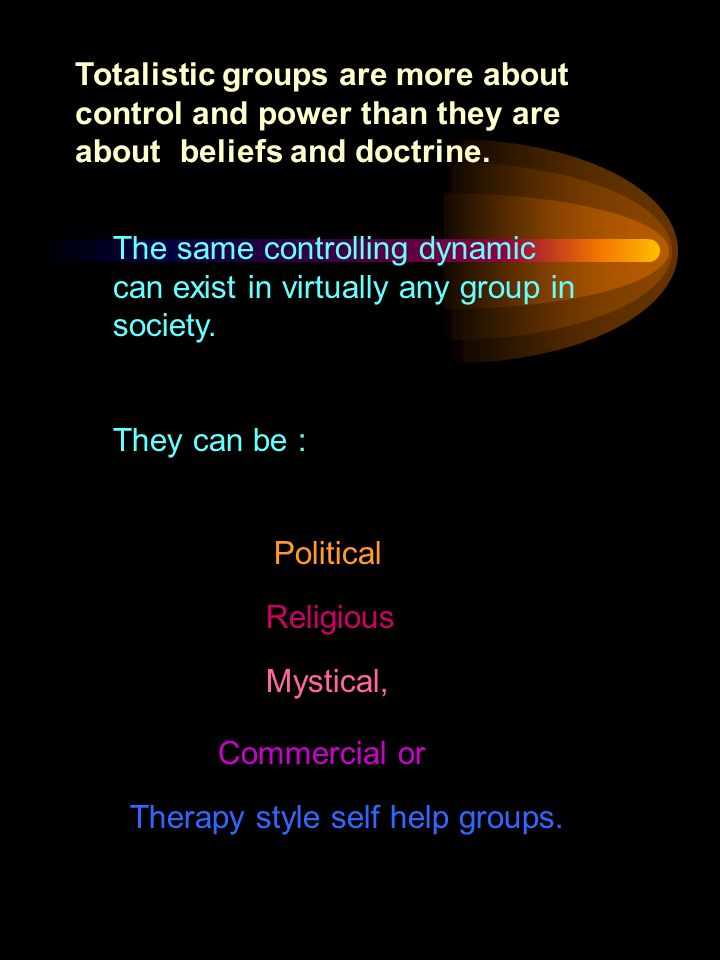 The same controlling dynamic can exist in virtually any group in society.
