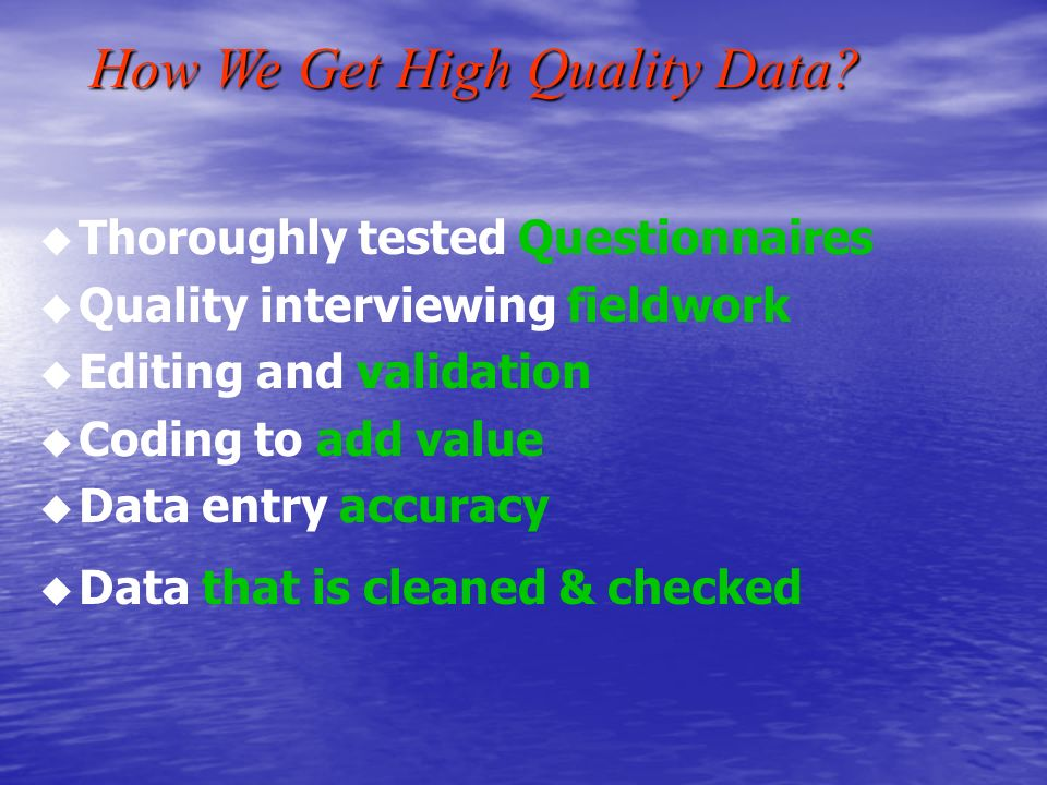 How Ozquest Handles Computer Assisted Telephone Interviewing Assisted Telephone Interviewing