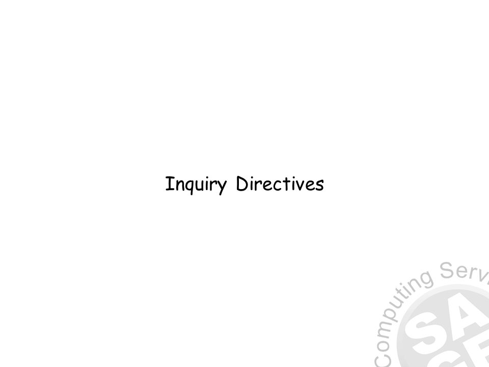 Inquiry Directives