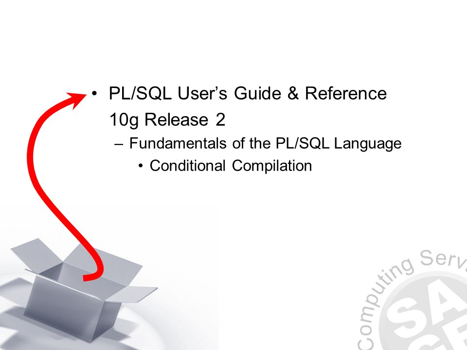 PL/SQL Users Guide & Reference 10g Release 2 –Fundamentals of the PL/SQL Language Conditional Compilation