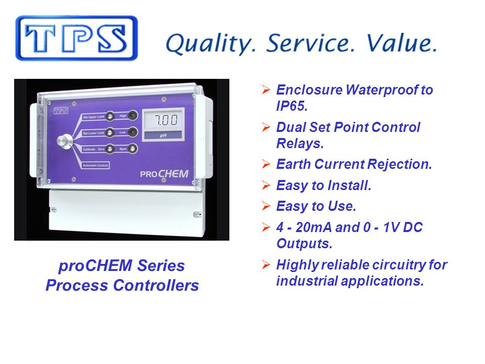 proCHEM Series Process Controllers Enclosure Waterproof to IP65.