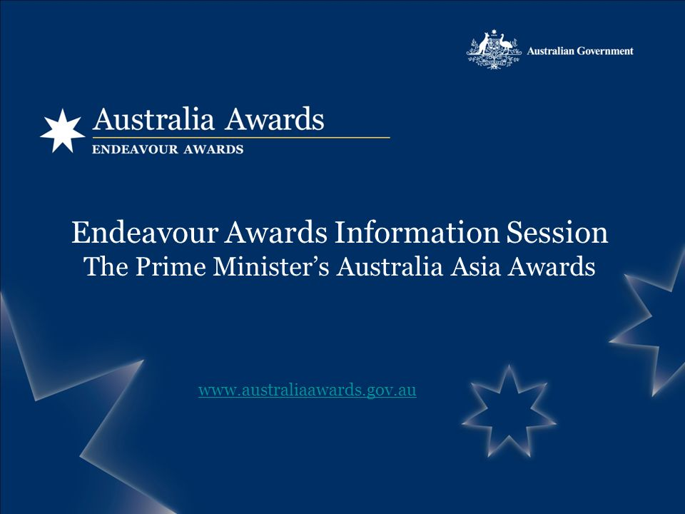 Endeavour Awards Information Session The Prime Ministers Australia Asia Awards