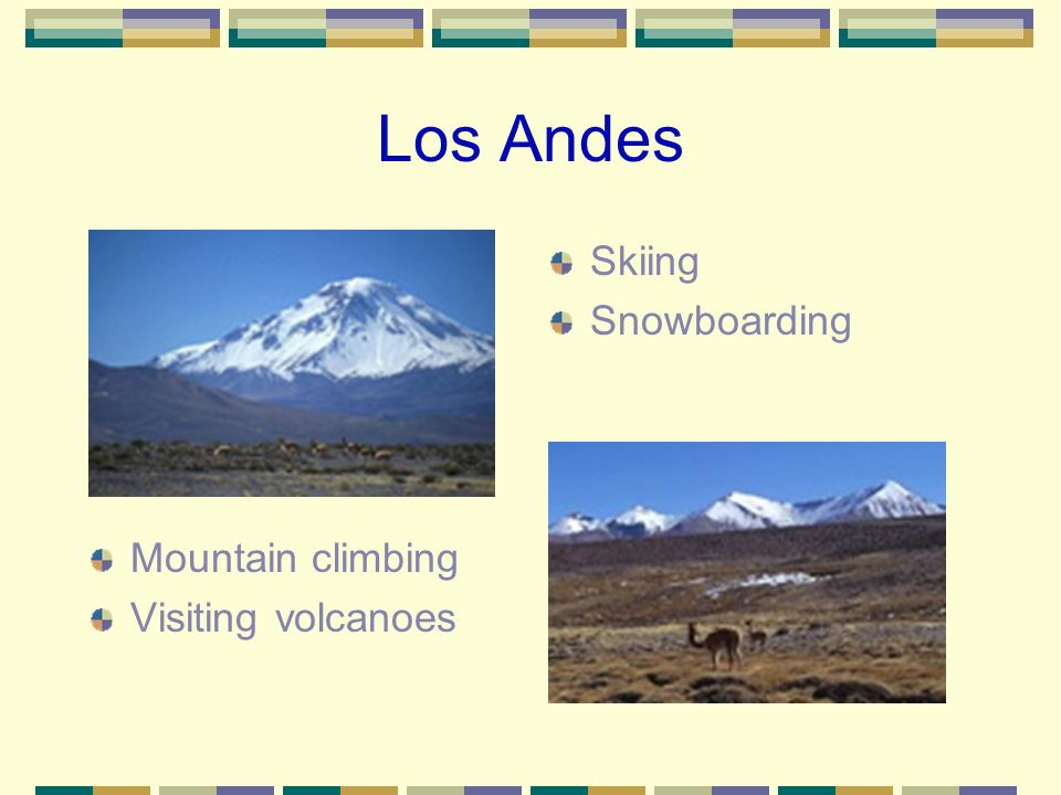 What role do the Andes Mountains play in science and leisure