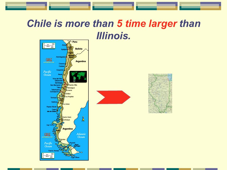 How large is Chile compared to Illinois