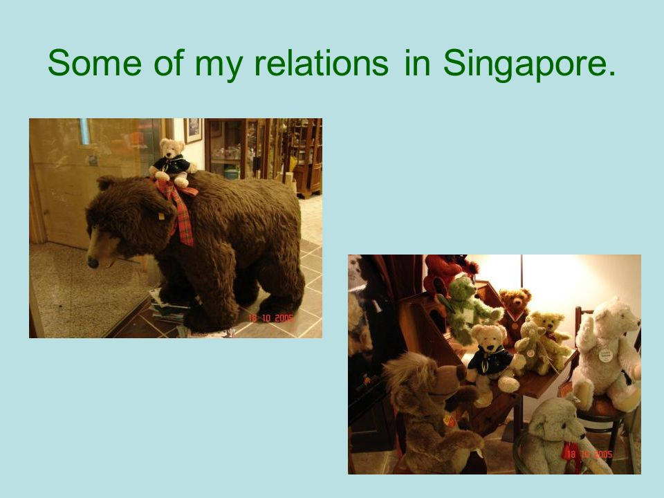 Some of my relations in Singapore.